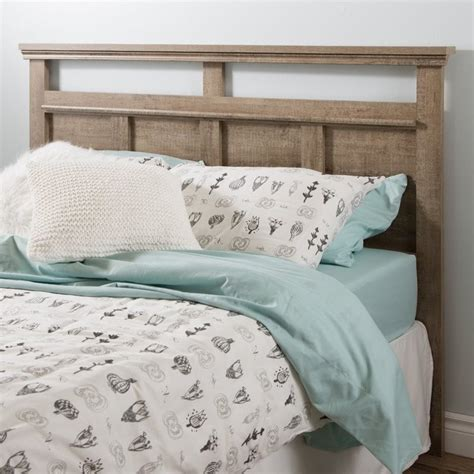 weathered headboard south shore versa wood full queen panel headboard in