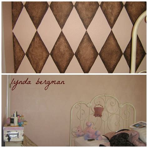 harlequin pattern on wall lynda bergman decorative artisan drawing painting a