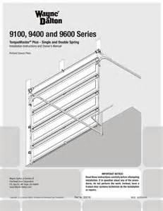 page 3 of wayne dalton garage door opener 9100 user s