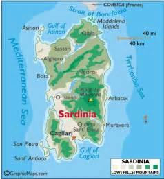 Sardinia Italy Map by Sardinia Adventure Times