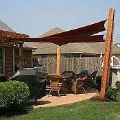 Shade sails and sun shades perfect for covering patios