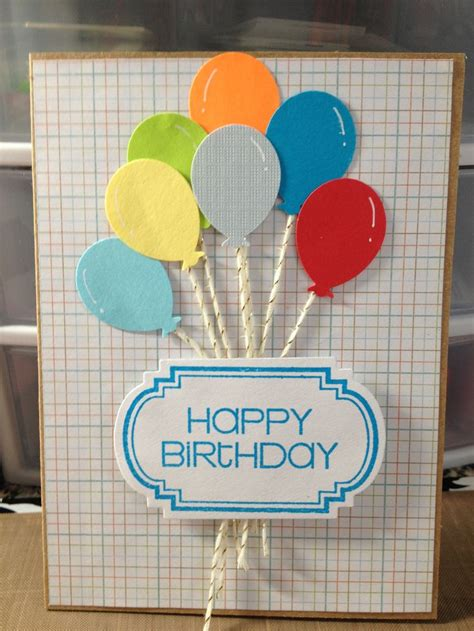Martha Stewart Birthday Card Template by Martha Stewart Balloon Punch Birthday Cards