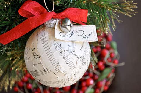 vintage sheet  christmas ornament tutorial