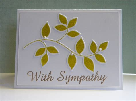 handmade sympathy card the handmade card