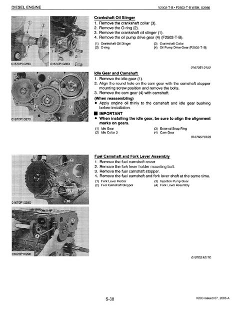 Kubota V2003-T-B, F2503-T-B Diesel Engines Workshop Manual PDF