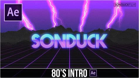 After Effects Tutorial 80 S Style Retro Intro Youtube Gaming Intro Template After Effects