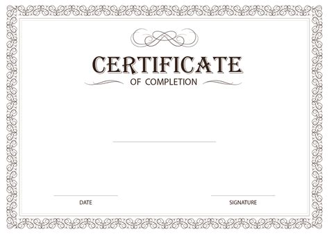Certificate Template Png Transparent corporate certificate border png www imgkid com the