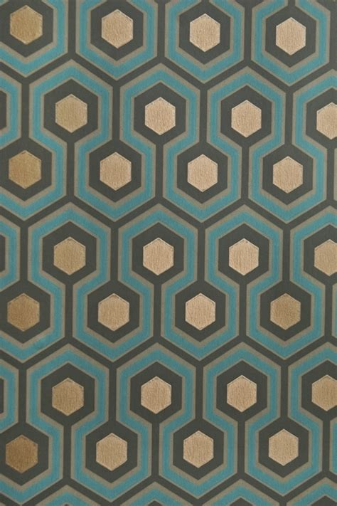 pattern design master accent wall in master bathroom hicks hexagon wallpaper