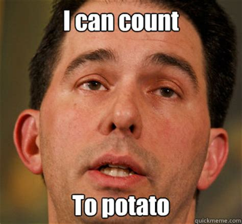 I Can Count To Potato Meme - i can count to potato santorum derp quickmeme
