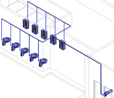 Plumbing In Revit by Revit Mep Tutorial Connecting Plumbing Fixture To Pipe