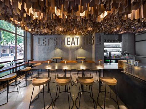 cafe interior design perth yod design assigns an industrial edge to a ukranian burger
