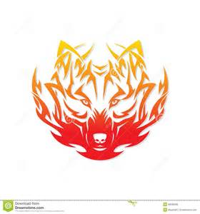 fire wolf royalty free stock photos image 30538598