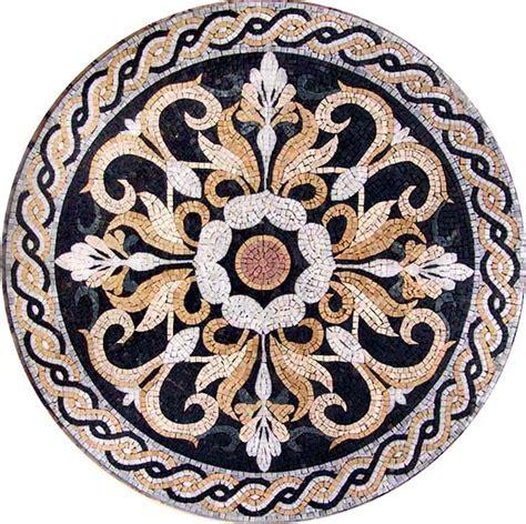 medallion mosaic pattern tile stone art floor tabletop floors art and mosaics