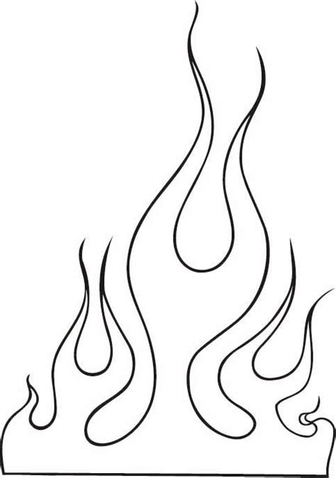 simple fire tattoo designs outline images clip 10 flames outline