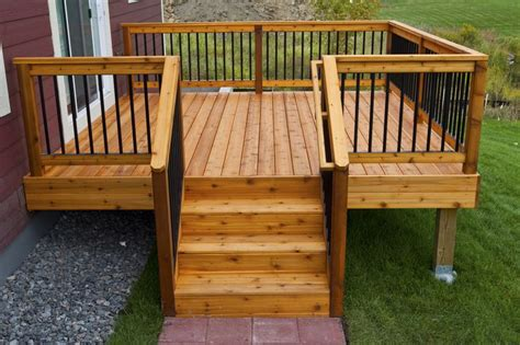 simple wood deck 25 best ideas about deck railings on railings