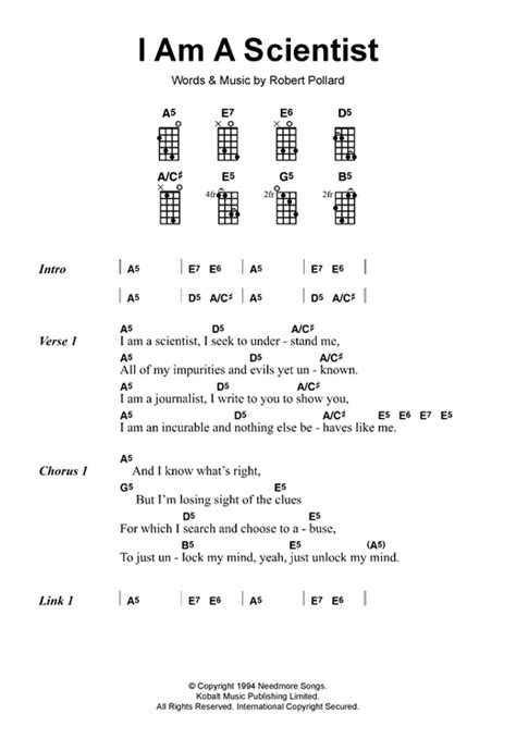 The Scientist Chords Guitar