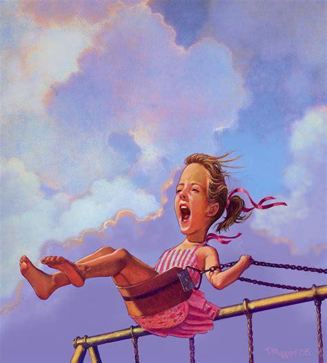 girl on a swing girl on a swing by valerian ruppert