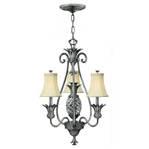 Small Ceiling Chandeliers by Antique Nickel Pineapple Chandelier For Or