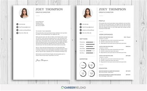 photoshop resume template 7 best free resume templates graphicadi