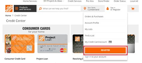 home depot credit card login bill payment