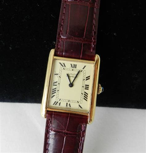 From Cartier With Newsvine Fashion 2 by Cartier Vintage Tank With Alligator At 1stdibs