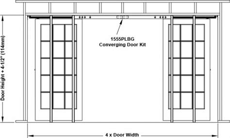 Sliding Wall Hardware Pocket Door Rough Opening Framing Interior Door Opening