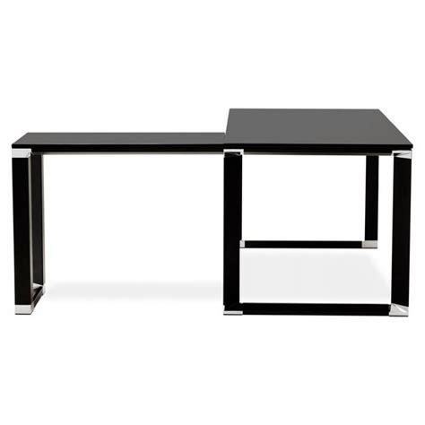 bureau d angle design corporate en bois noir