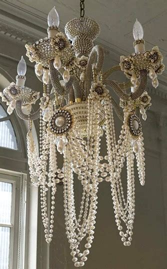 Diy Pearl Chandelier Pearl Chandelier Alive And Adorned