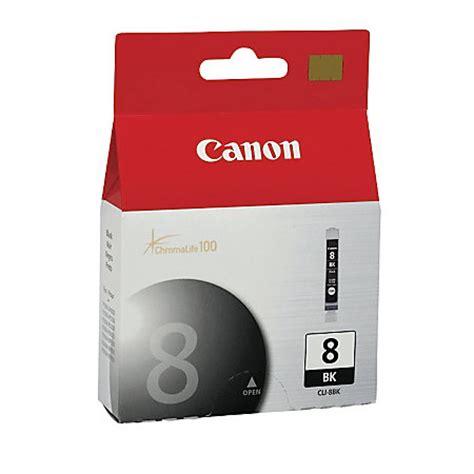 Canon Cli 8bk Ink Original 1 canon cli 8bk chromalife 100 black ink cartridge 0620b002aa by office depot officemax