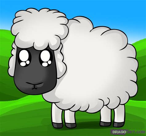 how to a sheep how to draw a sheep step by step animals animals free