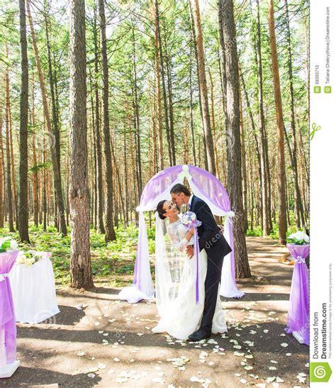 Wedding Arch In Garden by Wedding Arch In The Garden Stock Photography