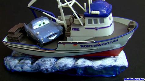 boat car in disney cars 2 crabby boat diecast review youtube