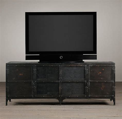 industrial media console industrial tool chest media console home