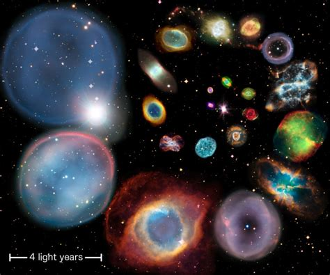 Ghostly And Beautiful Planetary Nebulae Get More Size Of Solar System In Light Years