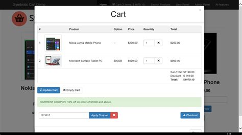 free shopping cart templates html ajax cart for html websites with orders invoices by