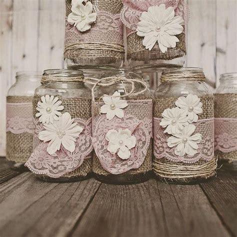 decorar tarros de cristal con puntillas las 25 mejores ideas sobre tarros de mas 243 n decorados con