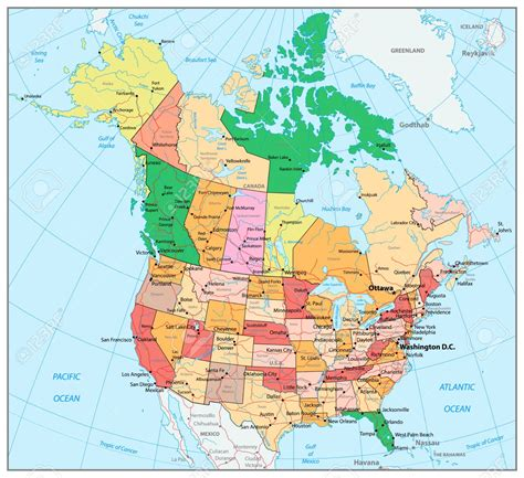 usa map with canada 4 x8 wall map of us and canada cdoovision