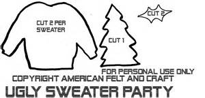 sweater template sweater american felt craft