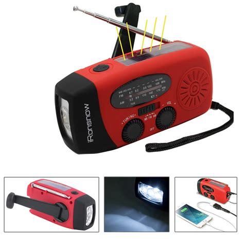 Emergency Charger Handphone dynamo emergency solar crank self powered fm radio