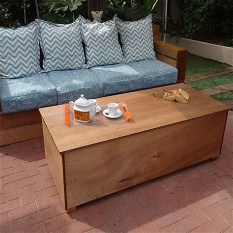 Outdoor Coffee Table With Storage by Home Dzine Garden Outdoor Storage Coffee Table