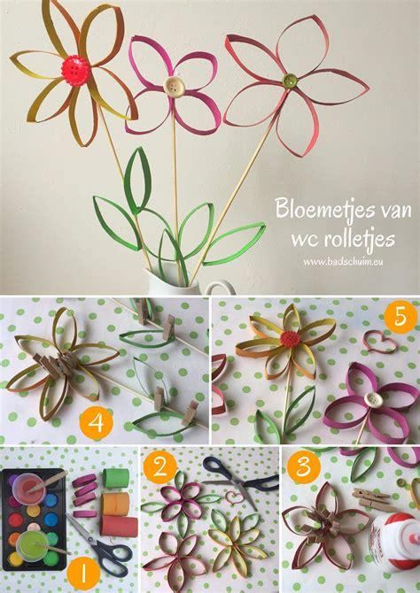 bloemen maken van wc rollen bloemetjes van wc rolletjes ze staan zo leuk in huis