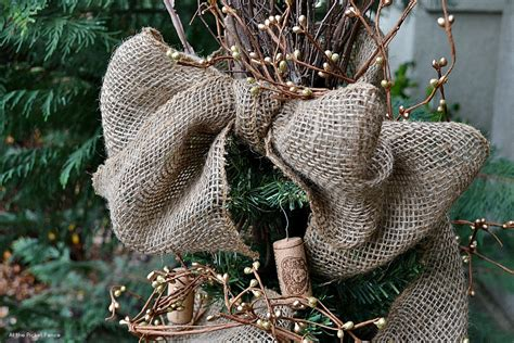 how to make a burlap christmas tree topper a tale of two trees tree hop at the picket fence