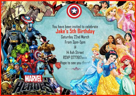 marvel birthday card template 18 birthday invitations free psd vector eps