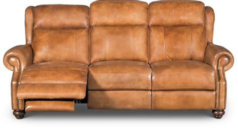 hancock leather sofa whiskey light brown leather power reclining sofa