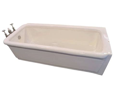 pristine porcelain bathtub with original nickel plated pristine porcelain bathtub with original nickel plated