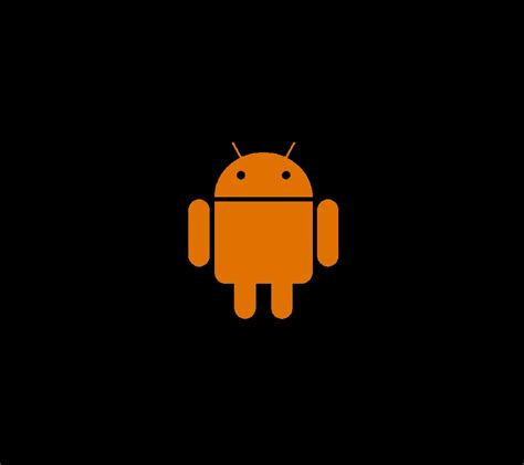 wallpaper android orange photo quot android logo orange on black quot in the album quot droid