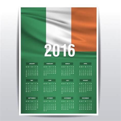 2016 yearly planner ireland ireland calendar of 2016 vector free download