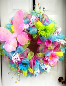 Easter Wreath Spring Wreath Spring Deco Mesh Easter Deco Mesh Wreath