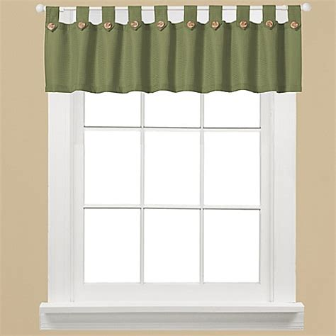 bed bath and beyond westlake westlake window curtain valance in sage bed bath beyond
