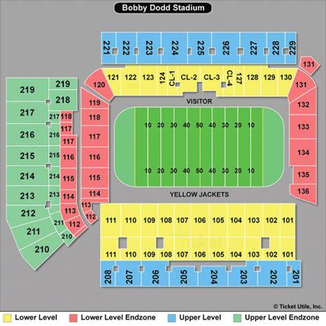 tech football seating map tech football tickets 2017 gt yellow jackets tickets